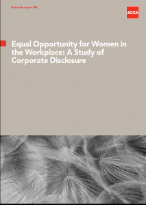 Equal opportunity for women in the workplace: A study of corporate disclosure