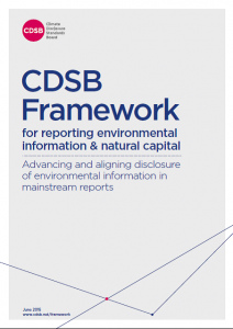 Just released: new CDSB Framework for reporting on environmental information & natural capital